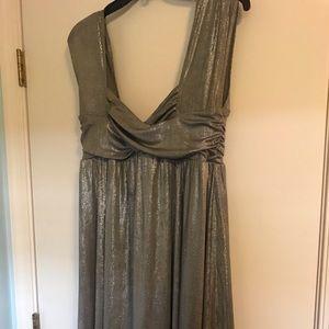 Sean John Silver Metallic Party Dress size 10